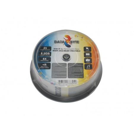 Databyte DVD+R DL imprimable à jet d'encre /25un
