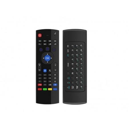 Air Mouse souris avec clavier sans fil gyroscope télécommande de TV universelle