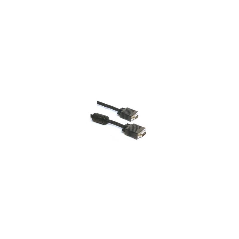 Cable VGA M/M 15'/Ferrite
