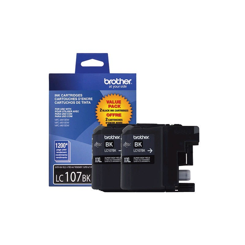 Brother LC1072 bk, 2 x cartouches (noir)