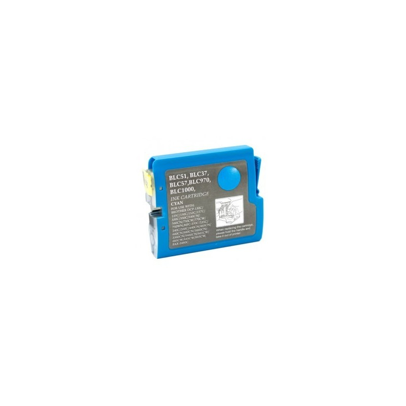 Brother LC51 compatible cyan