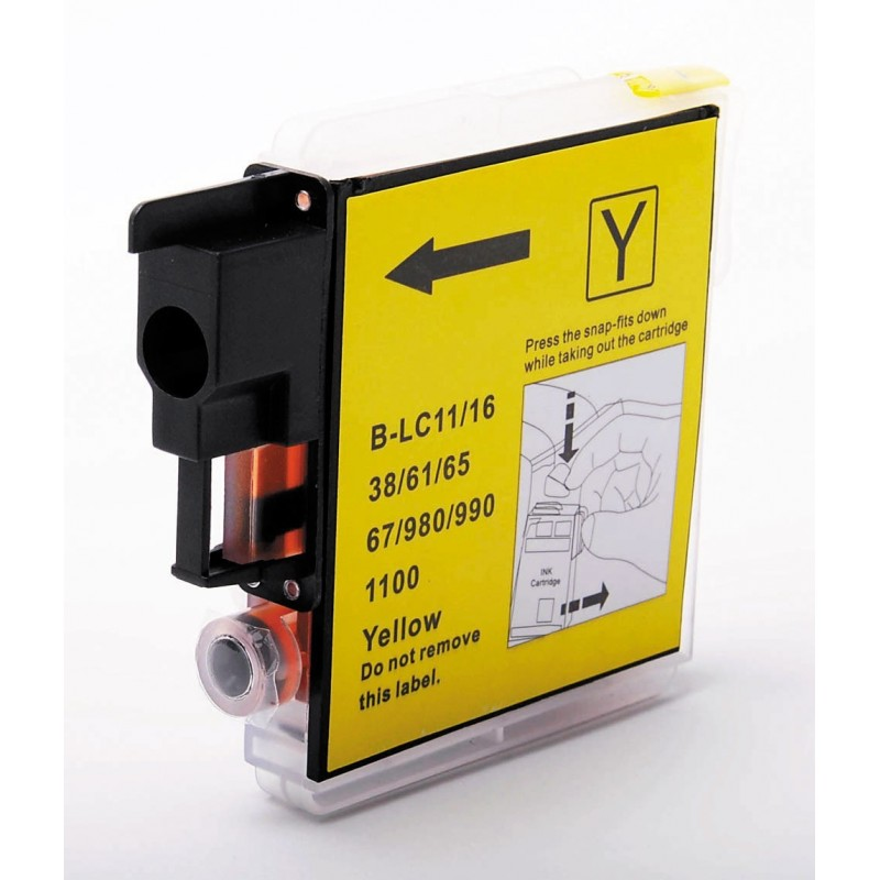 Brother LC61 compatible jaune