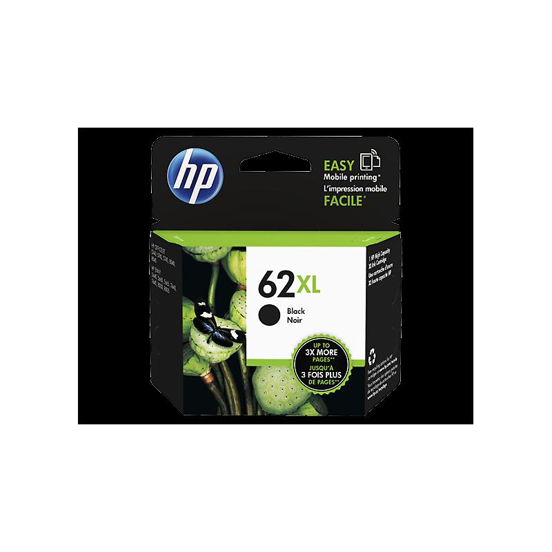 HP NO.62XL Noir - Haut rendement