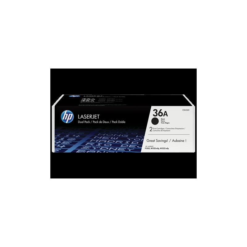 HP CB436AD Dual Pack Noir