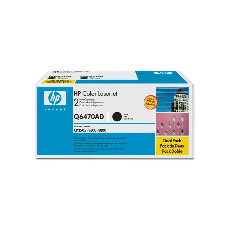 HP Q6470AD DUAL PACK Q6470A BLACK
