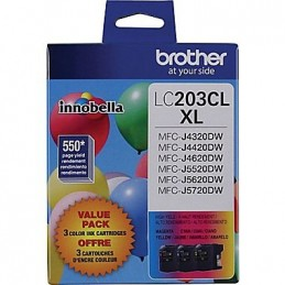 Brother LC203XL ensemble couleur (cyan, magenta, jaune)