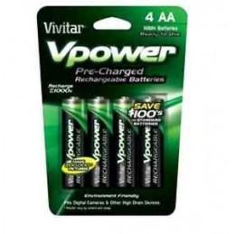 Vivitar Vpower piles AAx4 rechargeables 2100mAh