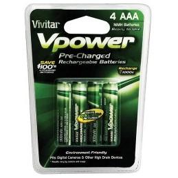 Vivitar 4 piles AAA NiMH rechargeables