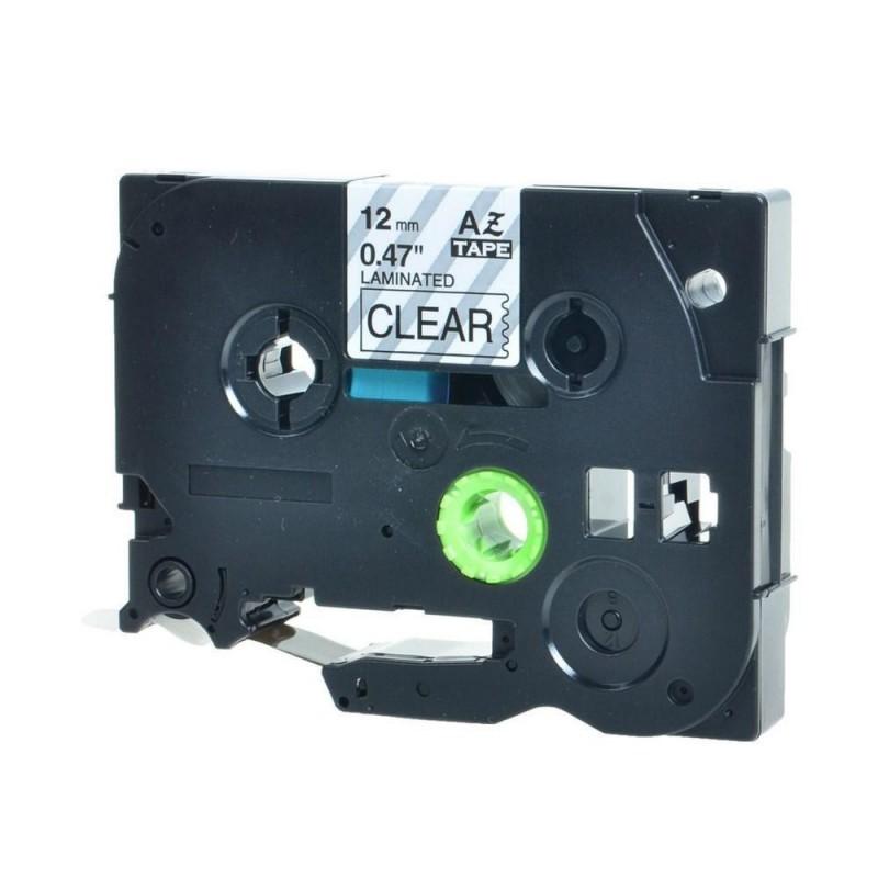 ncreco Brother TZe131 compatible noir sur transparent