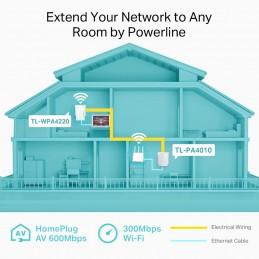 TP-Link Powerline TL-WPA4220 KIT 300Mbps AV500 WiFi Powerline Extender Starter Kit