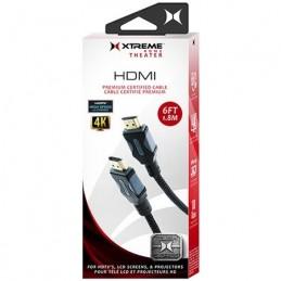 """Câble HDMI Xtreme 4K tressé 6"""""""