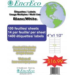 Encreco ETIQUETTES 4X1 1//2...