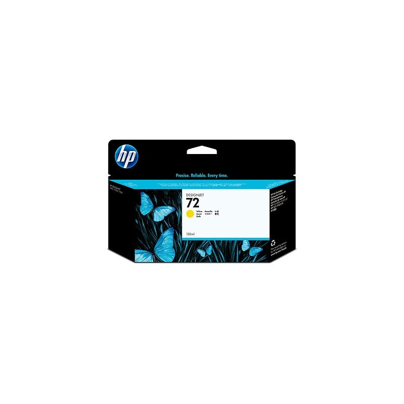 HP C9373 no72 130ml, jaune, Designjet T610,T1100