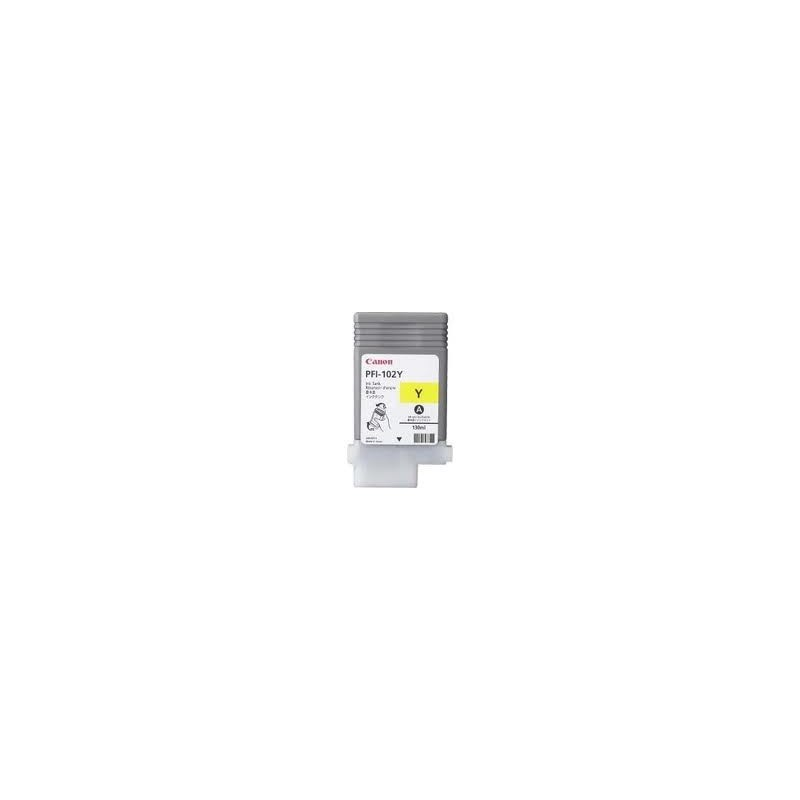 Canon PFI-102Y pour IPF500/600/700/510/610/710 , 130ml, 0898B001 jaune