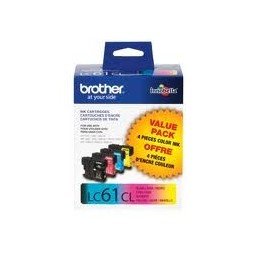 Brother LC61C-M-Y LC613 paquet de 3 couleurs